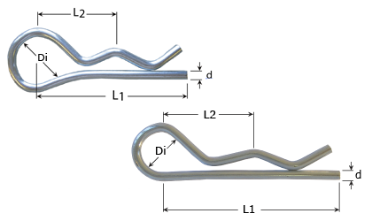 Technický výkres - Zajišťovací svorky - Nerezová ocel