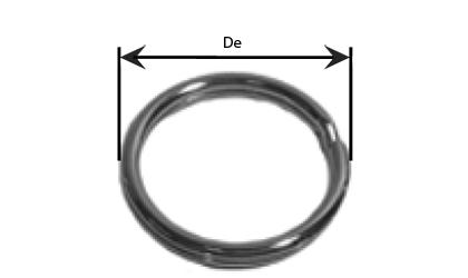 Technický výkres - Dělené kroužky - Pozinkované