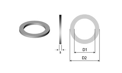 Technický výkres - Ploché podložky & vyrovnávací podložky