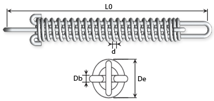 Technical drawing - Draw bar springs